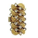 5 row clasp in gold No: 505