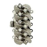 5 row clasp in silver. No: 506