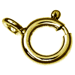9ct gold bolt-ring clasp