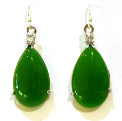 Green Jade Tear-Drops