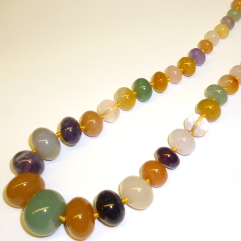 Multi Stone Graduated Necklace