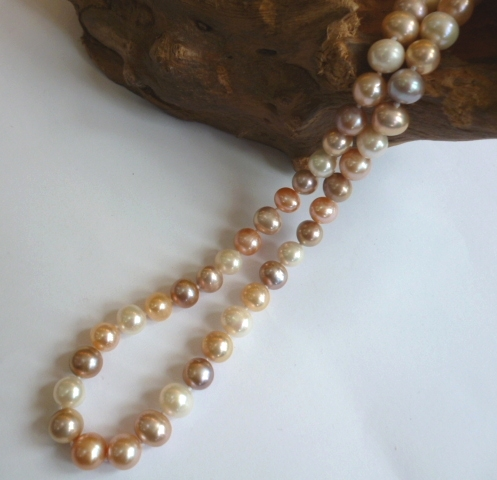 Multicolour High Grade Pearl Necklace