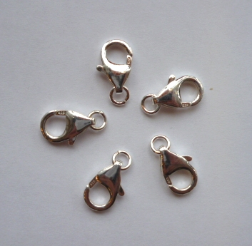 sterling silver lobster clasp 12mm